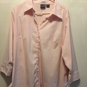 Cotton Express Light Pink Stretch Blouse